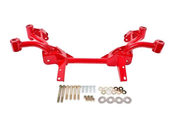 BMR Suspension KM006-1R   BMR K-member No Motor Mounts Pinto Rack Mounts Firebird V8 Red; 1982-1992