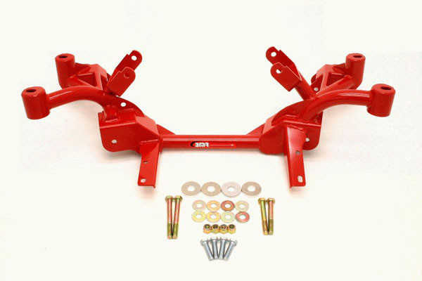 BMR Suspension KM008-1: BMR K-member LS1 Motor Mounts Pinto Rack Mounts 1982-1992 Firebird V8