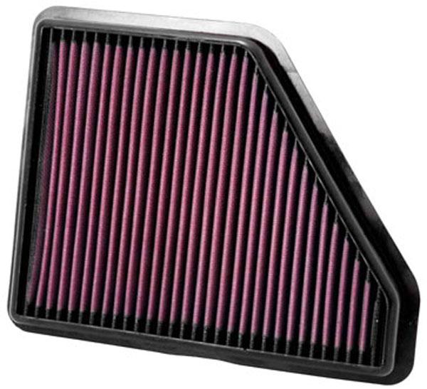K&N Filter 33-2439 | K&N Air Filter For Equinox 2.4L L4 & 3.0L V6; 2010-2011