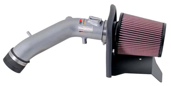 K&N Filter 691209TS | K&N Typhoon Air Intake System For Honda Accord L4-2.4l (silver) 2005-07