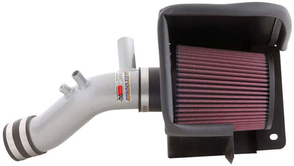 K&N Filter 692542TS | K&N Typhoon Air Intake System For Dodge Avenger 2.4L Silver; 2008-2010