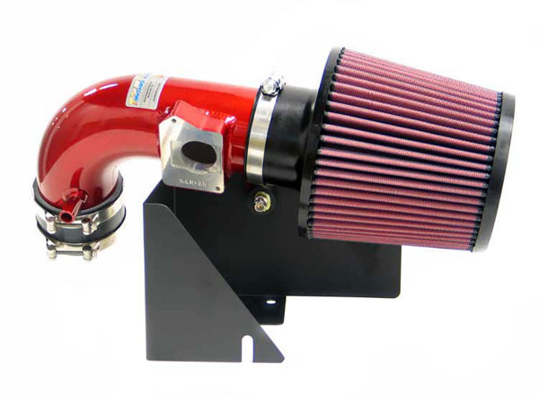 K&N Filter 693511TR: K&N Typhoon Air Intake System For Ford Focus Svt 02-03; Red