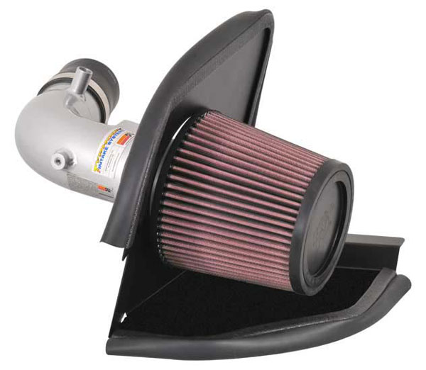 K&N Filter 696011TS: K&N Typhoon Air Intake System For Mazda 3 Mazdaspeed L4-2.3l Turbo 2007 (silver)