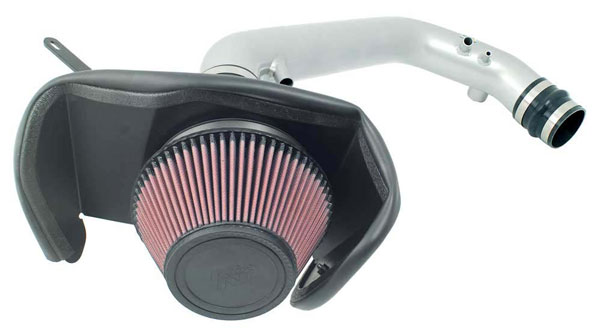 K&N Filter 697075TS: K&N Typhoon Air Intake System For Nissan 240sx 2.4l 91-94; Silver