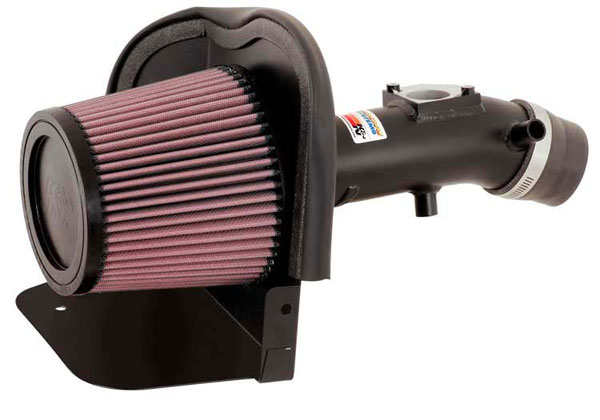 K&N Filter 698612TFK | K&N Typhoon Air Intake System For Toyota Yaris L4-1.5L Flat Black; 2006-2011