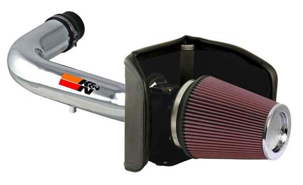 K&N Filter 77-2557KP | K&N 77 High Performance Air Intake System For Ford F-150 V8-4.6l (polished) 04-05