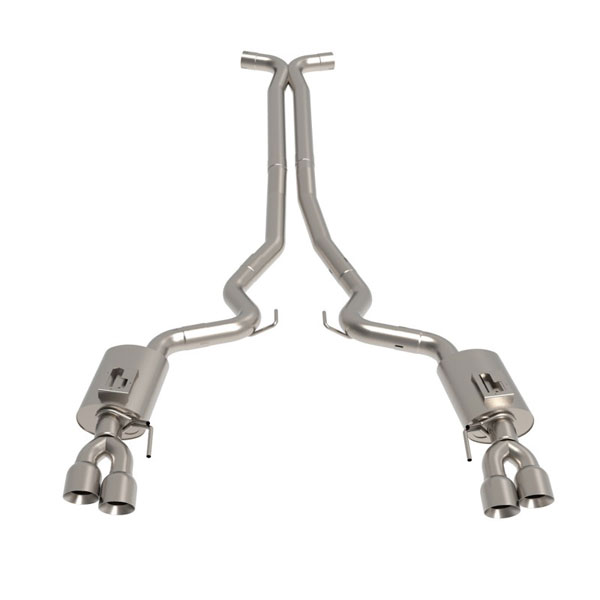 Kooks Headers 11514150 | Kooks Mustang GT Cat-Back Exhaust with X-Pipe and Polished Tips; 2018-2019