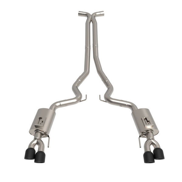 Kooks Headers 11514160 | Kooks Mustang GT Cat-Back Exhaust with X-Pipe and Black Tips; 2018-2019