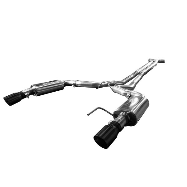 Kooks Headers 11515110: Kooks 2015 Ford Mustang GT 5.0L 3'' Stainless Steel Cat Back Exhaust w/ X-Pipe & Black Tips for Kooks Headers