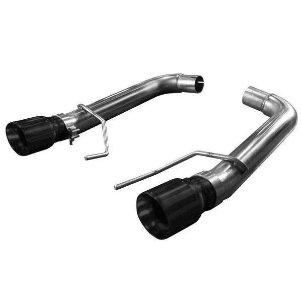 "Kooks Headers 11516410 | Kooks Ford Mustang GT 5.0L OEM to 3"" Stainless Steel Axle Back Exhaust w/Muffler Deletes & Black Tips; 2015-2016"