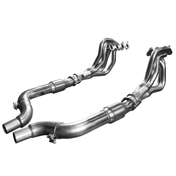 "Kooks Headers 1151H230 | Kooks Ford Mustang GT 5.0L 1 3/4"" x 3"" Stainless Steel Long Tube Header w/ GREEN Catted Connection Pipe; 2015-2016"