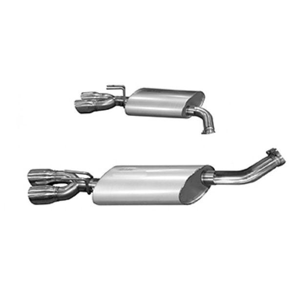 Kooks Headers 25206100 | + Caprice PPVGM LS Engine OEM x 3in Axleback Exhaust With Kooks Polished Oval Race Mufflers and Quad 3in Slash Cut Polished Tips; 2011-2017
