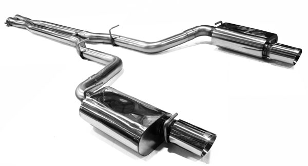 Kooks Headers (31224200)  2011-2014 Chrysler 300C SRT8 3in OEM Style Cat-Back with X-Pipe Oval Race Mufflers and 4in Polished Slash Cut Tips