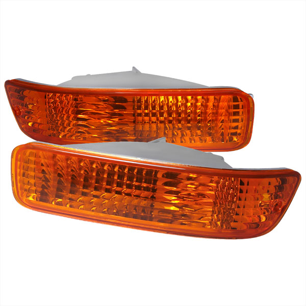 Spec-D Tuning LB-INT92AM-RS: Spec-D 92-93 Acura Integra Bumper Lights -amber (lb-int92am-rs)
