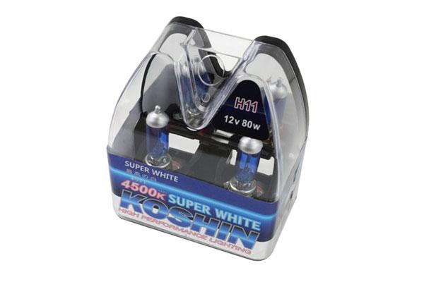 xTune LB-KO-H11SW    Koshin H11 Super White Halogen Light Bulbs 12V 80W