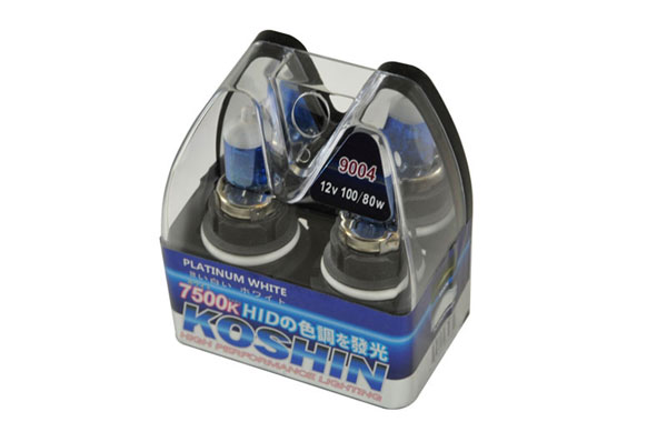 xTune LB-KO-PLATINUM-9004PW:  Koshin 9004 Platinum White Halogen Light Bulbs 12V 100/80W
