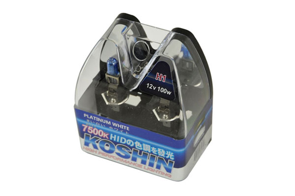 xTune LB-KO-PLATINUM-H1PW |  Koshin H1 Platinum White Halogen Light Bulbs 12V 100W; 2000-2013