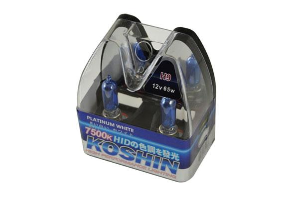 xTune LB-KO-PLATINUM-H9PW |  Koshin H9 Platinum White Halogen Light Bulbs 12V 65W; 2000-2013