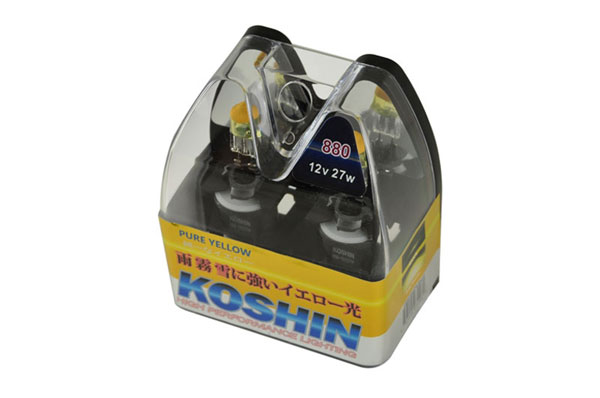 xTune LB-KO-YELLOW-880YE:  Koshin 880 Hyper Yellow Halogen Light Bulbs 12V 27W