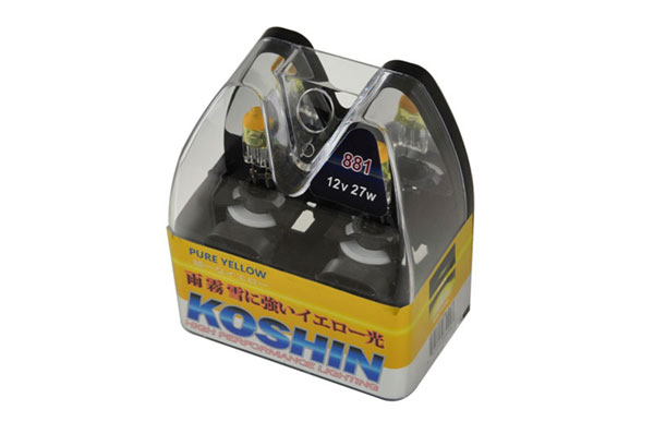 xTune (LB-KO-YELLOW-881YE)  Koshin 881 Hyper Yellow Halogen Light Bulbs 12V 27W