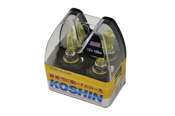 xTune LB-KO-YELLOW-9005YE |  Koshin 9005 Hyper Yellow Halogen Light Bulbs 12V 100W; 2000-2013