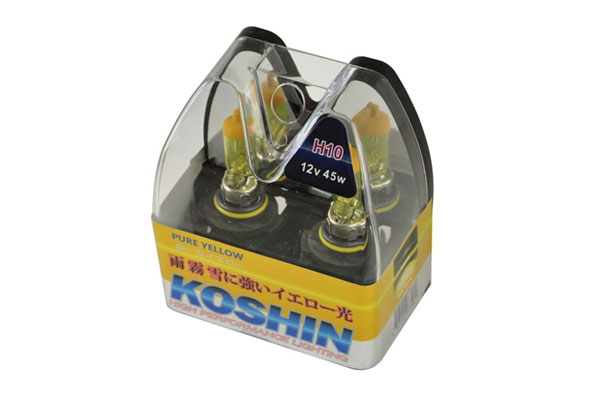 xTune LB-KO-YELLOW-H10YE:  Koshin H10 Hyper Yellow Halogen Light Bulbs 12V 42W