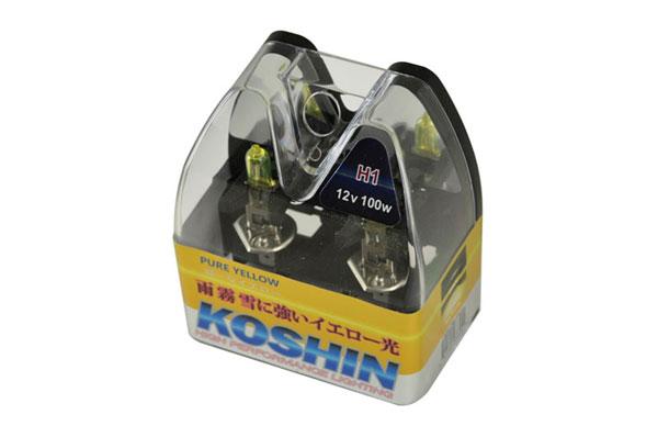 xTune LB-KO-YELLOW-H1YE |  Koshin H1 Hyper Yellow Halogen Light Bulbs 12V 100W; 2000-2013
