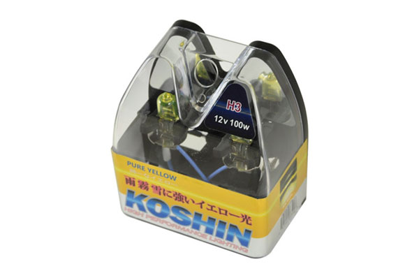 xTune LB-KO-YELLOW-H3YE |  Koshin H3 Hyper Yellow Halogen Light Bulbs 12V 100W; 2000-2013
