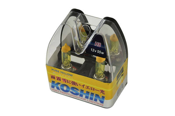 xTune LB-KO-YELLOW-H8YE:  Koshin H8 Hyper Yellow Halogen Light Bulbs 12V 50W