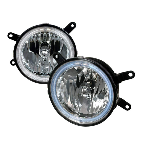 Spec-D Tuning LF-MST05H-KS: Spec-D 05-09 Ford Mustang Halo Fog Lights Ccfl V8