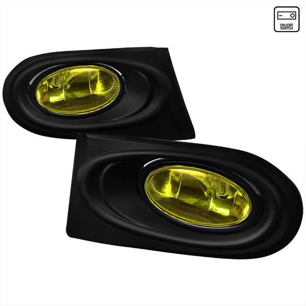Spec-D Tuning LF-RSX02AMOEM-RS |  Acura Rsx Oem Style Fog Lights Yellow, 02-04