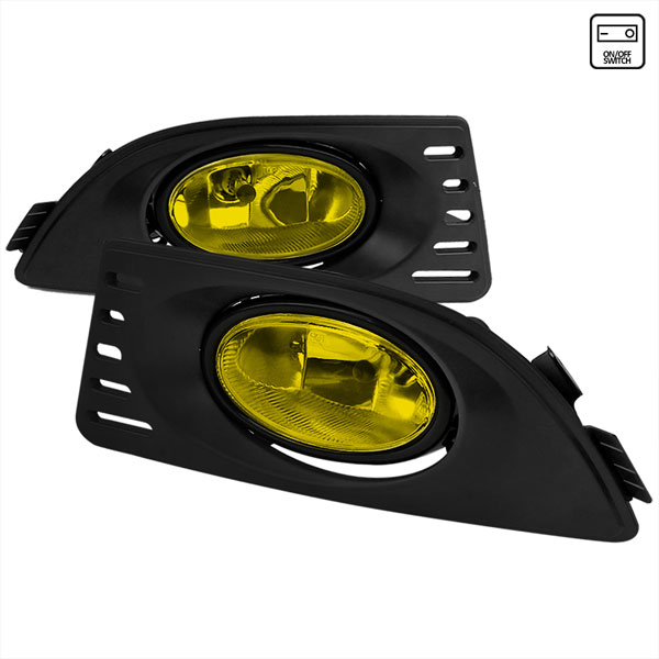 Spec-D Tuning LF-RSX06AMOEM-RS |  Acura Rsx Oem Style Fog Lights Yellow; 2005-2006