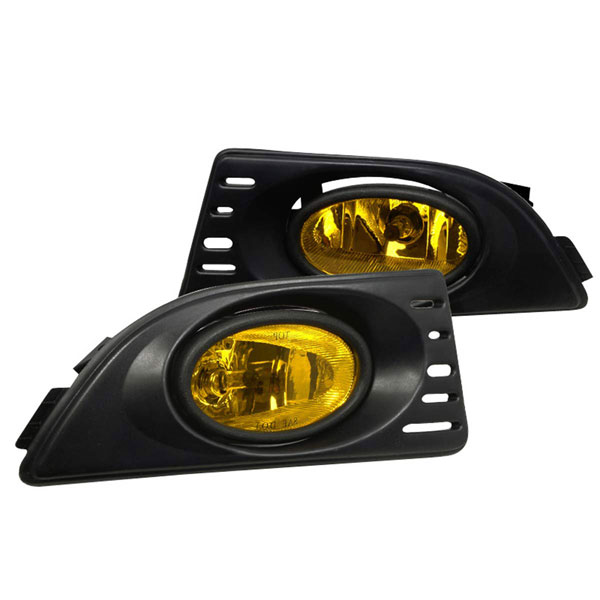 Spec-D Tuning LF-RSX06AMOEM | Spec-D Acura Rsx Oem Yellow Fog Lights; 2006-2010