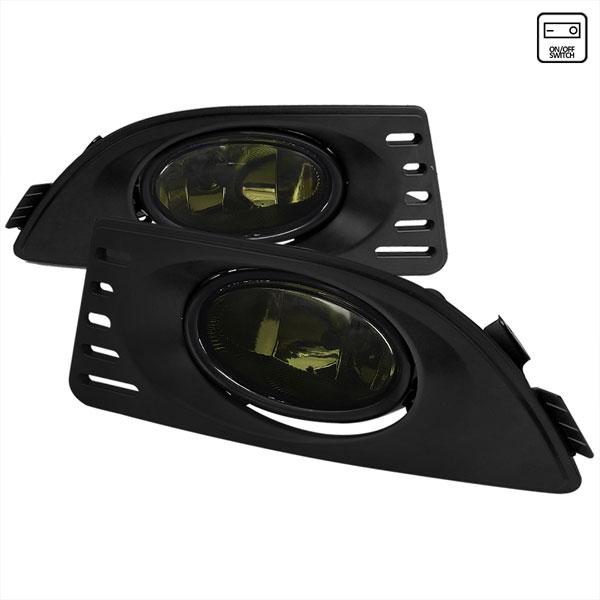 Spec-D Tuning LF-RSX06GOEM-RS |  Acura Rsx Oem Style Fog Lights Smoke; 2005-2006