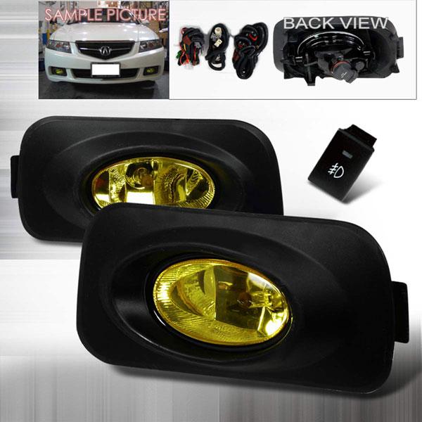 Spec-D Tuning LF-TSX04AMOEM | Spec-D 04-05 Acura Tsx Oem Fog Lights - Amber