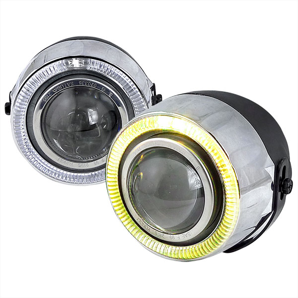 Spec-D Tuning LFP-RND-YL: Spec-D Halo Fog Light Projector - 7 Color