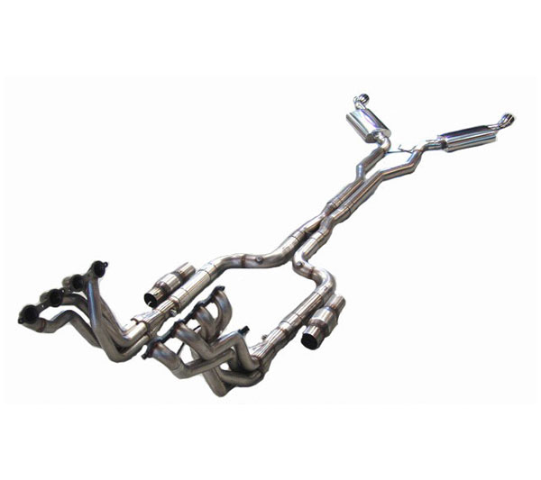 LG Motorsports LGGEN5COMPLETEMM:  Long Tube Headers 1-7/8 for 2010-11 Camaro Cats Xpipe Muffler and Tips