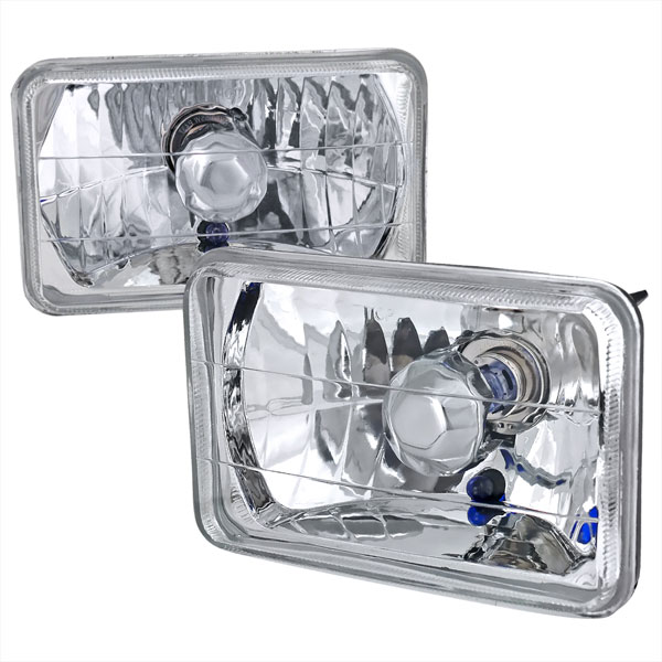Spec-D Tuning LH-4X6: Spec-D 4x6 Headlights - Crystal