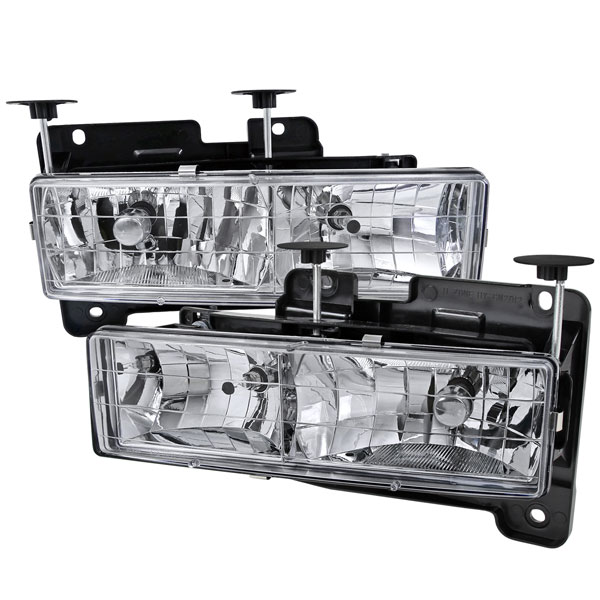 Spec-D Tuning LH-C1088-RS: Spec-D 88-98 C10 Truck Headlights Chrome