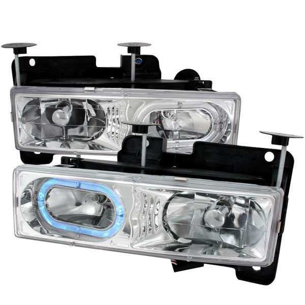 Spec-D Tuning LH-C1088H-KS: Spec-D 88-98 C10 Full Size Halo Headlight
