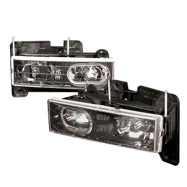 Spec-D Tuning LH-C1088HCF-KS | Spec-D 88-98 C10 Full Size Halo Headlight