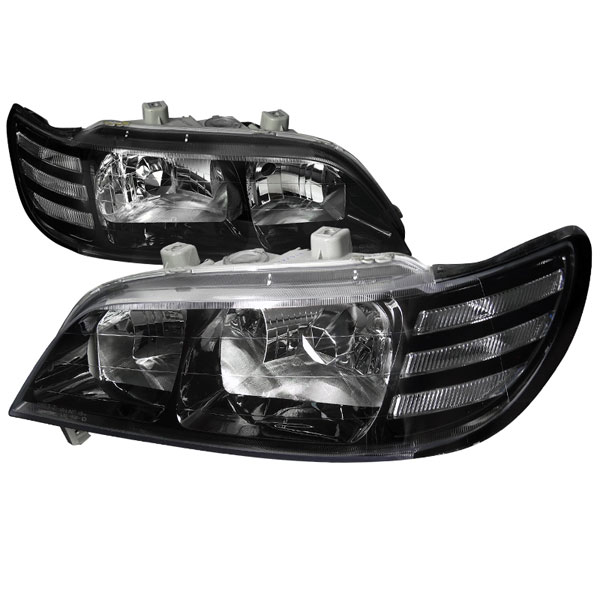 Spec-D Tuning (LH-CL97JM-DP)  Acura Cl Euro Headlights Black Housing, 97-99
