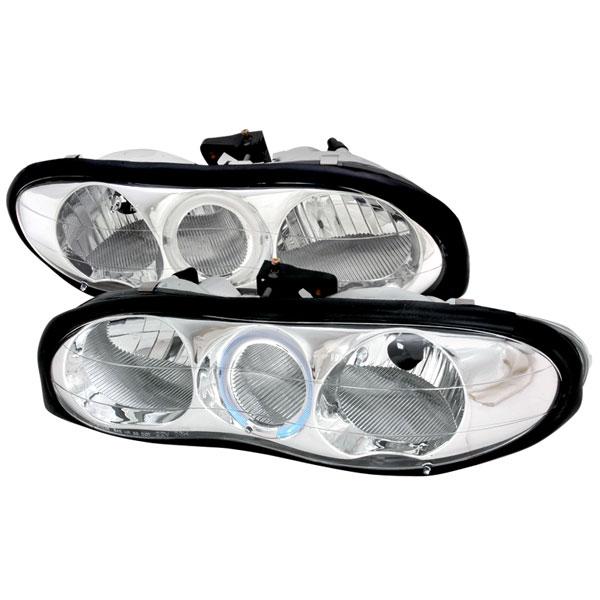 Spec-D Tuning LH-CMR98H-KS   Spec-D Camaro Halo Headlights - Chrome V8 / V6; 1998-2002