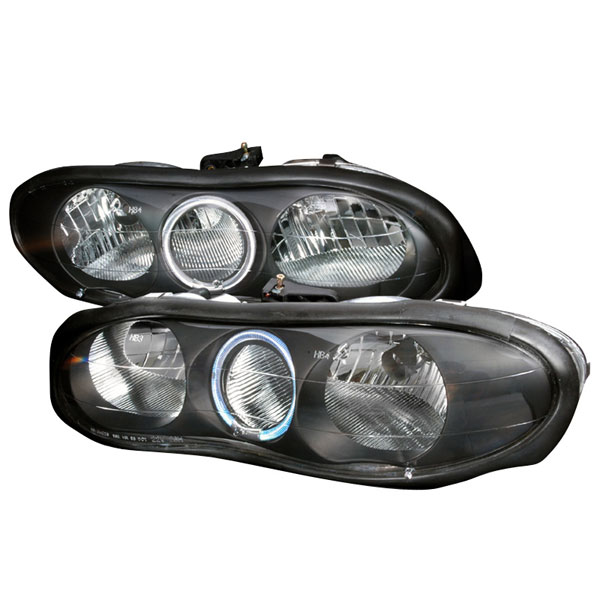 Spec-D Tuning LH-CMR98HJM-KS: Spec-D 98-02 Camaro Halo Headlights - Black V8 / V6