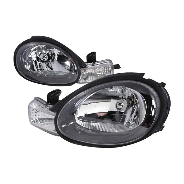 Spec-D Tuning LH-NEO00JM-KS | Spec-D Dodge Neon Headlights - Black; 2000-2003