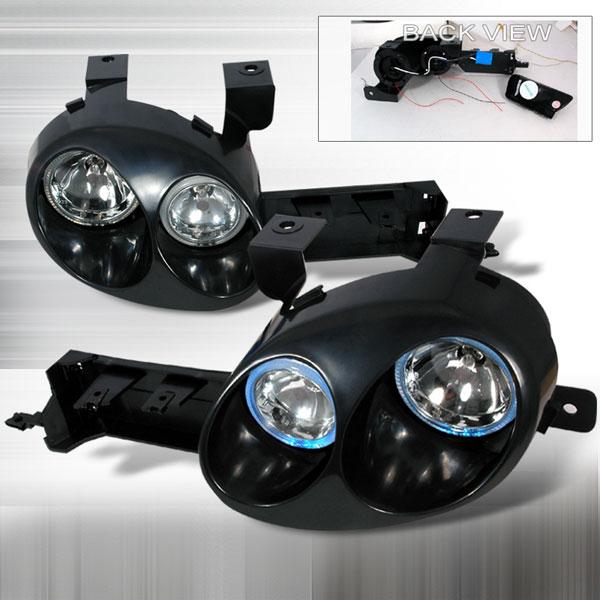 Spec-D Tuning LH-NEO95JMBH   Spec-D 95-99 Neon Ralli-Style Halo Headlights