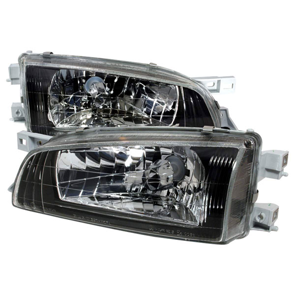 Spec-D Tuning LH-WRX97JM-DP | Spec-D Subaru Impreza Headlights Black; 1995-2001