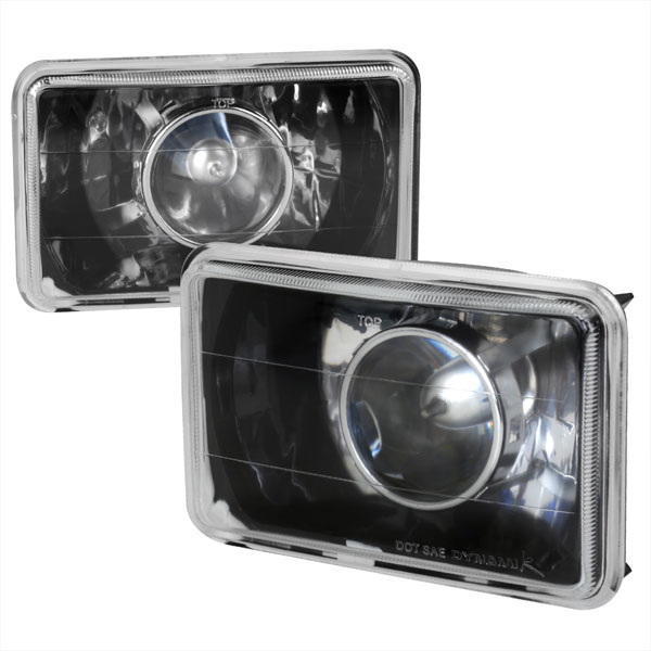 Spec-D Tuning LHP-4X6JM: Spec-D 4 X 6 Projector Headlights black