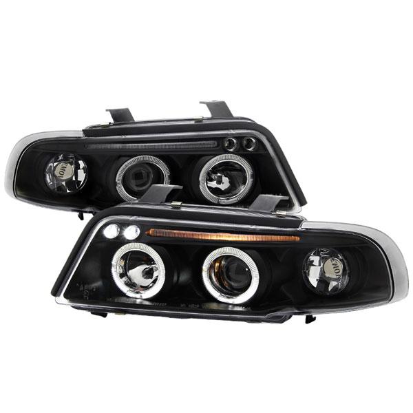 Spec-D Tuning LHP-A496JM-TM   Spec-D Audi A4 Projector Headlights; 1996-1999