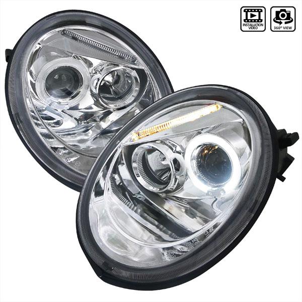 Spec-D Tuning LHP-BEE98-TM | Spec-D 98-05 Vw Beetle Projector Headlights